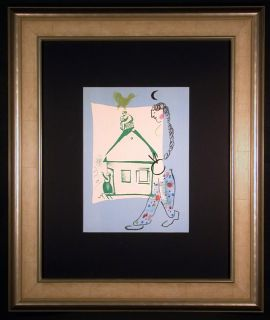 $620, The House in My Village Orig Lithograph by Marc Chagall