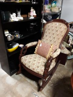 Antique Lincoln Rocker on sale $65 Final price