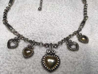 Vintage Necklace Brighton Style Charms Silver and Bronze Accents Ready To Wear