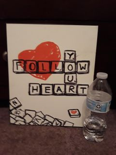 Follow your heart wall hanging