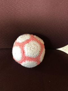 Hand made rattle ball toy