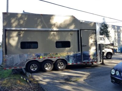 Two car stacker enclosed trailer