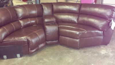 beautiful Ashley leather sectional
