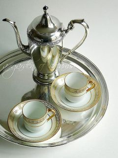 Antique Noritake Chanfaire pair of demitasse cups