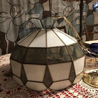 Hanging Stained Glass Lamp with Bulb