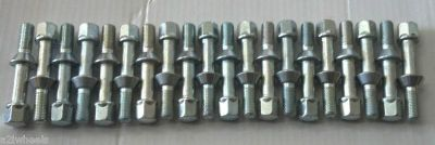 Purchase 12mm x 1.5 Conical Lug Bolt SET 20 Mercedes Factory Style Extended 28mm thread motorcycle in Holt, Michigan, US, for US $40.00