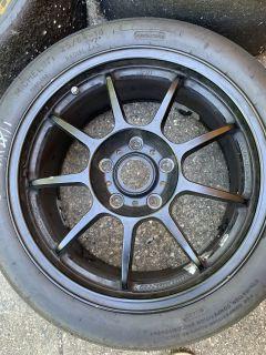 """OZ 18"""" x 8 1/2 F , 18x 10"""" R wheels for Cayman"""
