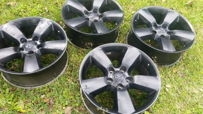 20 inch Dodge black rims ( no tires )