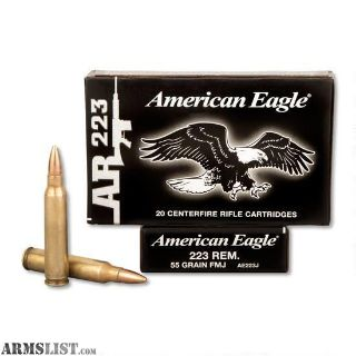For Sale: 340 Rounds American Eagle .223 FMJ NEW