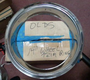 "Oldsmobile Stainless Steel Trim Rings 14"" (set of four)"