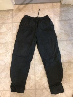 Men's splash pants. Size medium