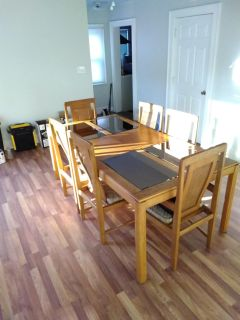 6 Chair Dining Table Set (Cover Included)