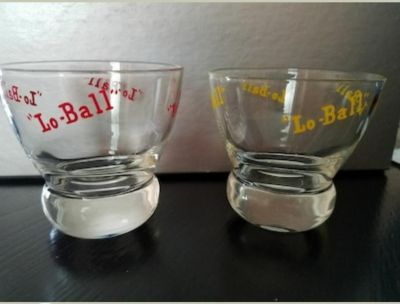 Vintage Lo-Ball barware from the 1960's