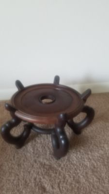 wooden, plant stand