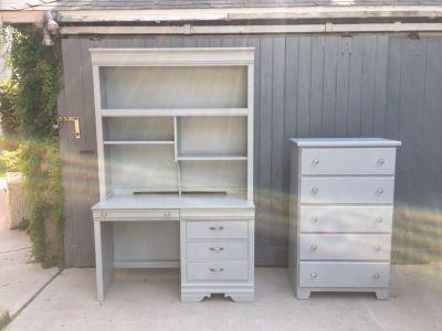 Refinished desk and dresser