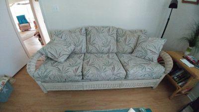 Beautiful wicker couch