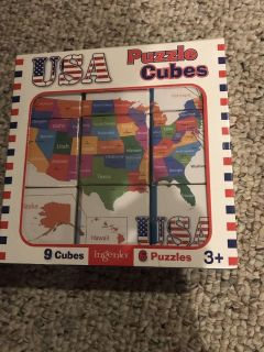 USA puzzle cubes. New