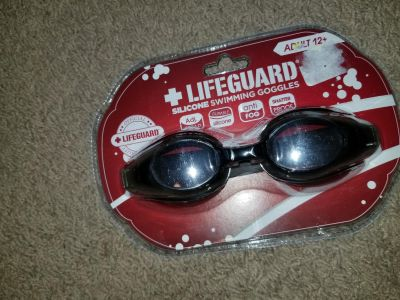 Life guard adult silicone swimming goggles