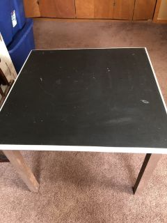 Kids chalk board table