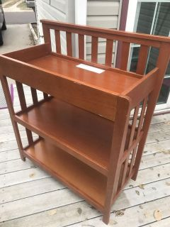 Changing table. Comes with changing pad and cover. Not pictured but all in good condition