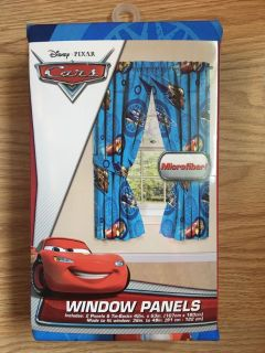 NEW Disney Cars Curtain Set