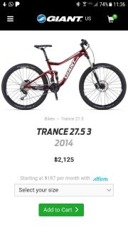 Giant Trance Bicycle