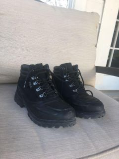 Fila black military boots for boys size 6