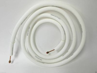 """Set 1/4"""" x 1/2"""" & 1/2"""" x 1/2"""" Copper Refrigeration Pipe/Tubing & Nuts"""