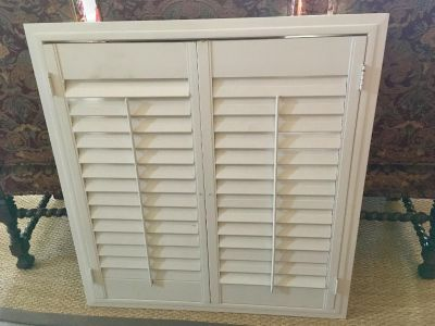 $15 plantation shutter Pinterest project 37 wide by 39 3/4 tall.