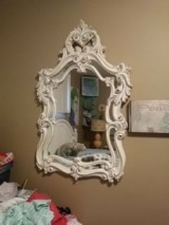 White Antique Wall Mirror