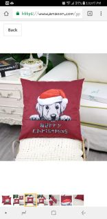 Puppy Merry Christmas Canvas Pillow Cover New