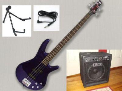 $250 Ibanez Jewel Blue Bass Guitar Combo