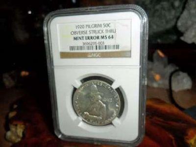 Exceptional Coin 1920-P Pilgrim Commemorative Silver Half Dollar. NGC MS 64 M/ER