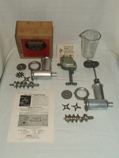 Vintage Sunbeam Mixmaster Attachments Drink Mixer Meat / Veggie Grinder