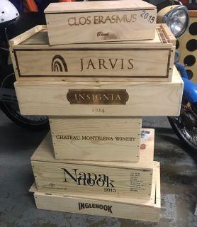 Wood wine boxes / crates