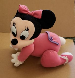 Baby Minnie Mouse crawling plush toy