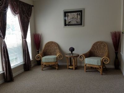 2 decorative chairs and 1 table