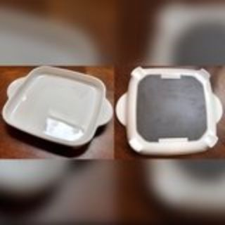~~Corningware Square White Coupe Microwave Plus Browning Grill~~