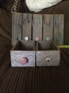 Rustic shelves and jewelry hanger