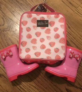 New Matilda Jane Right As Rain Boots With Carry Case