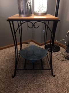 Pair of Longaberger wrought iron end tables
