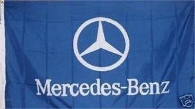 Find MERCEDES BENZ Emblem Flag 3x5' Horizontal Blue Banner jwx* motorcycle in Castle Rock, Washington, US, for US $18.95