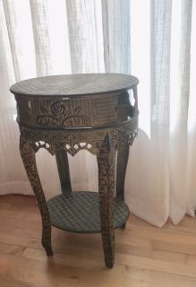 Green Tin Side Table