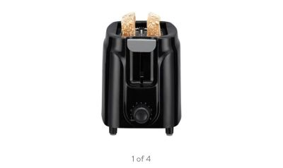 solid black colored toaster
