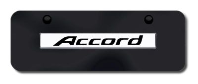 Buy Honda Accord Name Chrome on Black Mini-License Plate Made in USA Genuine motorcycle in San Tan Valley, Arizona, US, for US $33.38