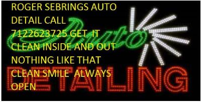 OPEN ROGER SEBRINGS AUTO DETAILING 7122623725 SPENCER FULL DETAIL INSIDE AND OUT CALL FOR AN APPOINT