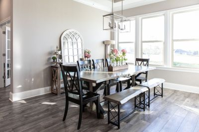 8ft. Live-edge dining table