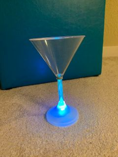 Plastic Margarita glass. Lights keep turning