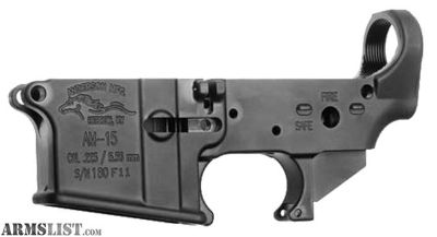For Sale: ANDERSON STRIPPED LOWER 7075-T6 .223/5.56