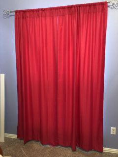 Pink blackout curtains.